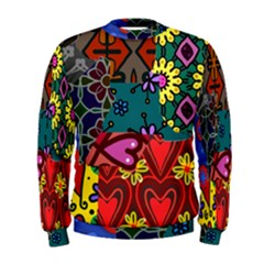 Digitally Created Abstract Patchwork Collage Pattern Men s Sweatshirt by Amaryn4rt