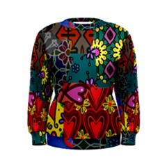 Digitally Created Abstract Patchwork Collage Pattern Women s Sweatshirt by Amaryn4rt