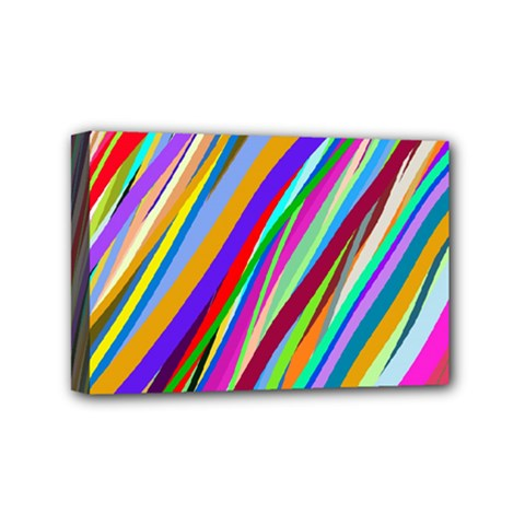 Multi Color Tangled Ribbons Background Wallpaper Mini Canvas 6  X 4  by Amaryn4rt