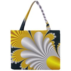 Fractal Gold Palm Tree On Black Background Mini Tote Bag by Amaryn4rt