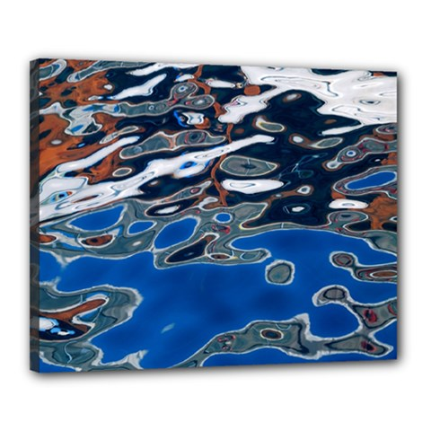 Colorful Reflections In Water Canvas 20  X 16  by Amaryn4rt