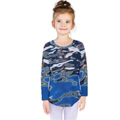 Colorful Reflections In Water Kids  Long Sleeve Tee by Amaryn4rt