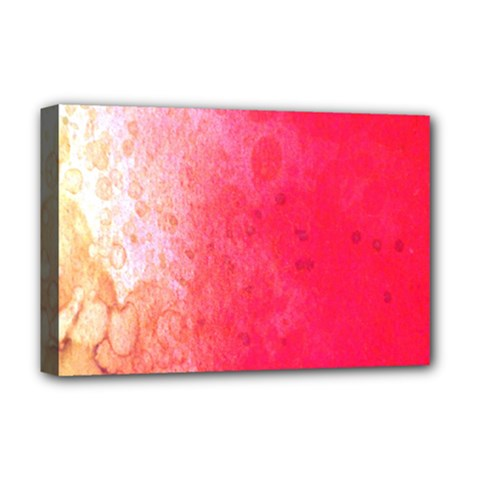 Abstract Red And Gold Ink Blot Gradient Deluxe Canvas 18  X 12   by Amaryn4rt