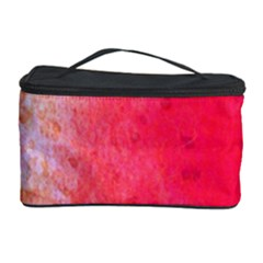 Abstract Red And Gold Ink Blot Gradient Cosmetic Storage Case