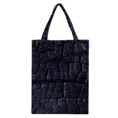 Black Burnt Wood Texture Classic Tote Bag by Amaryn4rt