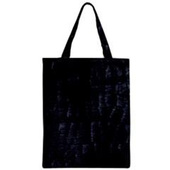 Black Burnt Wood Texture Zipper Classic Tote Bag by Amaryn4rt