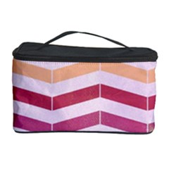 Abstract Vintage Lines Cosmetic Storage Case by Amaryn4rt
