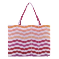 Abstract Vintage Lines Medium Tote Bag by Amaryn4rt