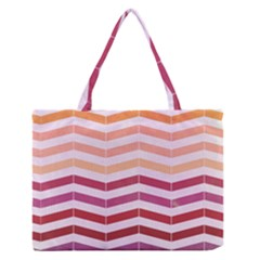 Abstract Vintage Lines Medium Zipper Tote Bag by Amaryn4rt