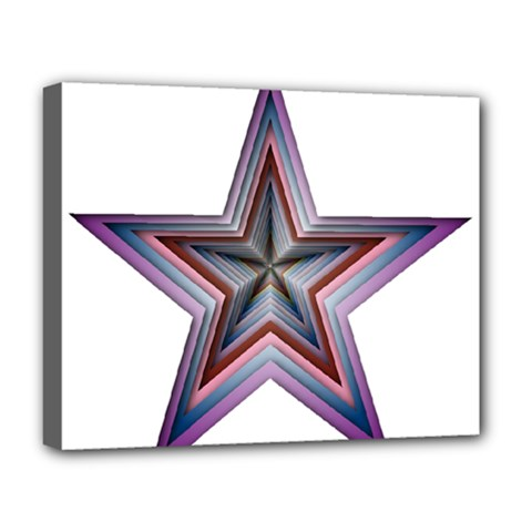 Star Abstract Geometric Art Deluxe Canvas 20  X 16   by Amaryn4rt