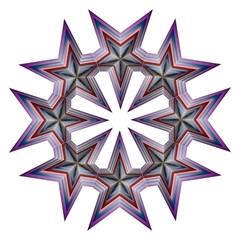 Star Abstract Geometric Art Golf Umbrellas by Amaryn4rt