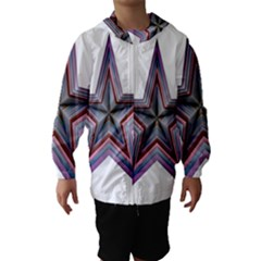 Star Abstract Geometric Art Hooded Wind Breaker (kids) by Amaryn4rt