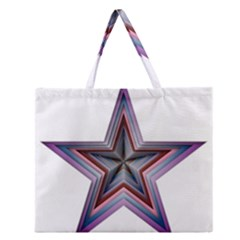 Star Abstract Geometric Art Zipper Large Tote Bag by Amaryn4rt