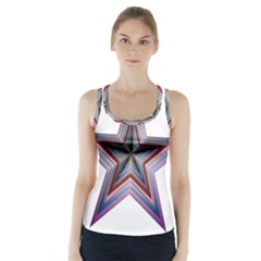 Star Abstract Geometric Art Racer Back Sports Top