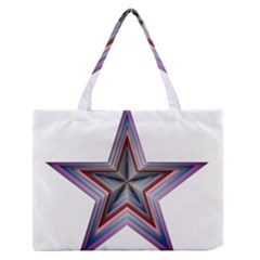 Star Abstract Geometric Art Medium Zipper Tote Bag by Amaryn4rt