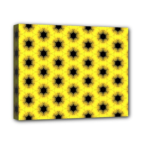 Yellow Fractal In Kaleidoscope Canvas 10  X 8  by Amaryn4rt