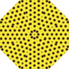 Yellow Fractal In Kaleidoscope Golf Umbrellas by Amaryn4rt