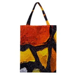 Colorful Glass Mosaic Art And Abstract Wall Background Classic Tote Bag by Amaryn4rt