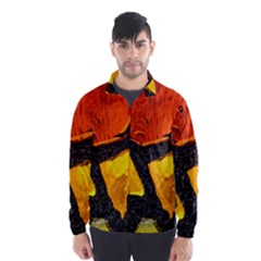 Colorful Glass Mosaic Art And Abstract Wall Background Wind Breaker (men) by Amaryn4rt