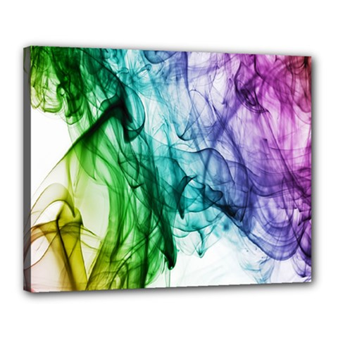 Colour Smoke Rainbow Color Design Canvas 20  X 16  by Amaryn4rt