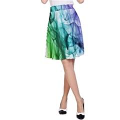 Colour Smoke Rainbow Color Design A-Line Skirt