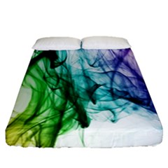 Colour Smoke Rainbow Color Design Fitted Sheet (queen Size) by Amaryn4rt