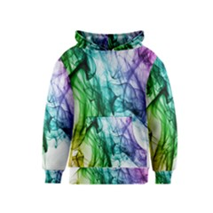 Colour Smoke Rainbow Color Design Kids  Pullover Hoodie