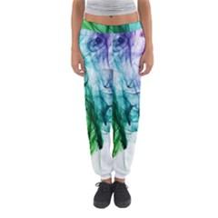 Colour Smoke Rainbow Color Design Women s Jogger Sweatpants