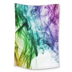 Colour Smoke Rainbow Color Design Large Tapestry