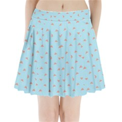 Spaceship Cartoon Pattern Drawing Pleated Mini Skirt