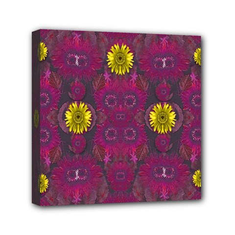 Colors And Wonderful Sun  Flowers Mini Canvas 6  X 6  by pepitasart