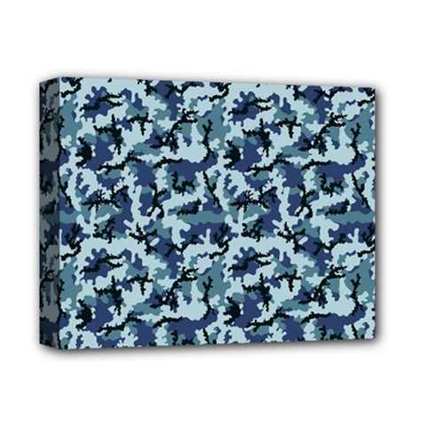 Navy Camouflage Deluxe Canvas 14  X 11  by sifis