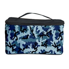 Navy Camouflage Cosmetic Storage Case by sifis