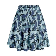 Navy Camouflage High Waist Skirt by sifis