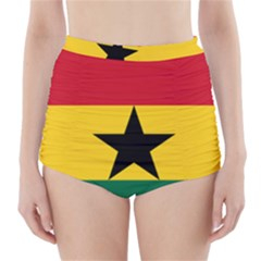 Flag Of Ghana High Waisted Bikini Bottoms