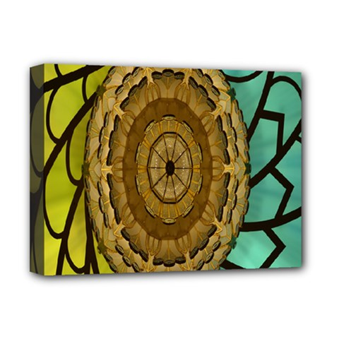Kaleidoscope Dream Illusion Deluxe Canvas 16  X 12   by Amaryn4rt