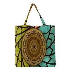Kaleidoscope Dream Illusion Grocery Tote Bag by Amaryn4rt