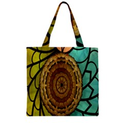 Kaleidoscope Dream Illusion Zipper Grocery Tote Bag by Amaryn4rt