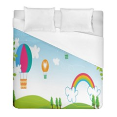 Landscape Sky Rainbow Garden Duvet Cover (full/ Double Size) by Amaryn4rt