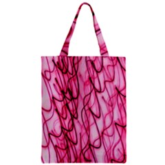 An Unusual Background Photo Of Black Swirls On Pink And Magenta Zipper Classic Tote Bag by Amaryn4rt