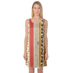 Digitally Created Collage Pattern Made Up Of Patterned Stripes Sleeveless Satin Nightdress