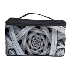 Fractal Wallpaper Black N White Chaos Cosmetic Storage Case by Amaryn4rt