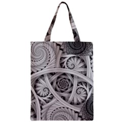 Fractal Wallpaper Black N White Chaos Zipper Classic Tote Bag by Amaryn4rt