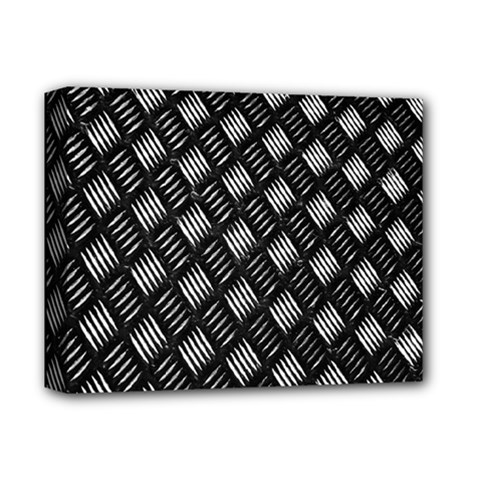 Abstract Of Metal Plate With Lines Deluxe Canvas 14  X 11  by Amaryn4rt