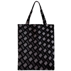 Abstract Of Metal Plate With Lines Zipper Classic Tote Bag by Amaryn4rt