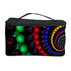 Fractal Background With High Quality Spiral Of Balls On Black Cosmetic Storage Case by Amaryn4rt