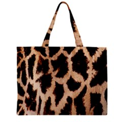 Yellow And Brown Spots On Giraffe Skin Texture Zipper Mini Tote Bag by Amaryn4rt