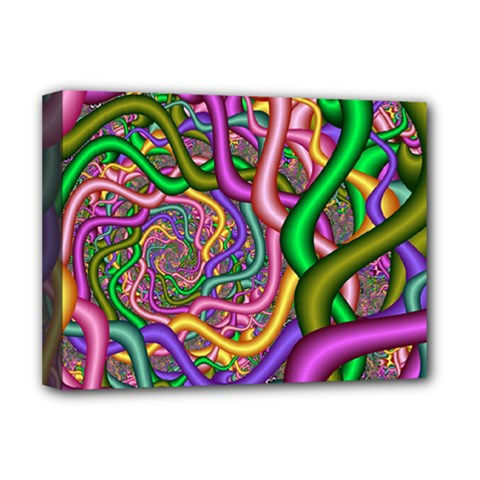 Fractal Background With Tangled Color Hoses Deluxe Canvas 16  X 12   by Amaryn4rt