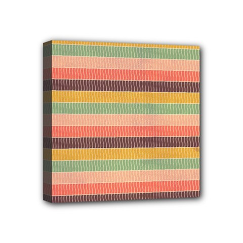 Abstract Vintage Lines Background Pattern Mini Canvas 4  X 4  by Amaryn4rt
