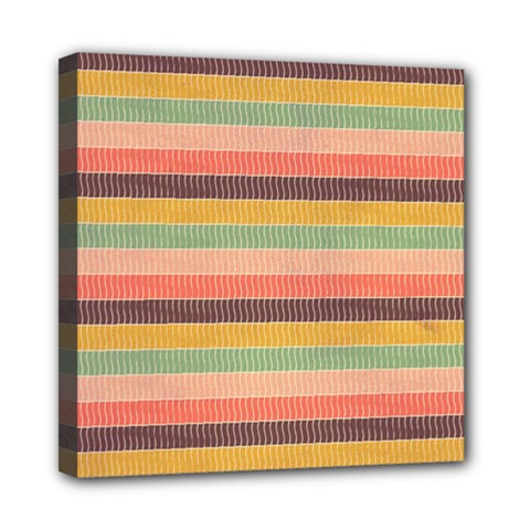 Abstract Vintage Lines Background Pattern Mini Canvas 8  X 8  by Amaryn4rt